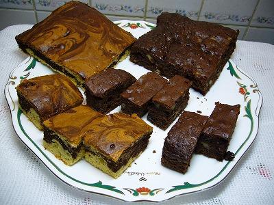 チョコブラウニーマーブルケーキ