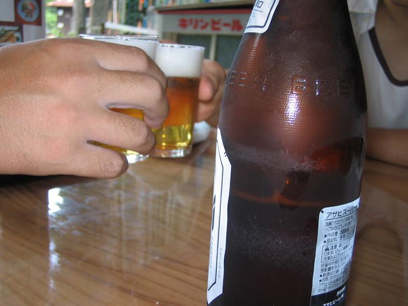 釣り掘り(1時間釣ったら・・・お疲れさんビールで乾杯っ!)