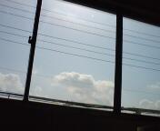 工房から見える空