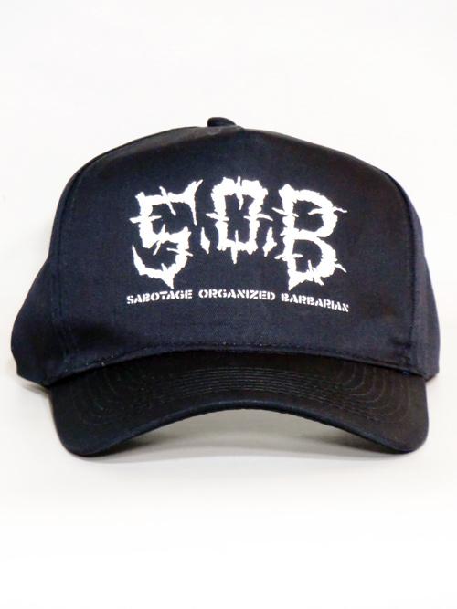 ��S.O.B_LOGO COTTON CAP��