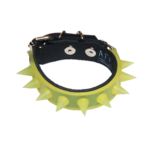 ■A.F.P. / CLONE_RUBBER SPIKE WRISTBAND CLEAR YELLOW■