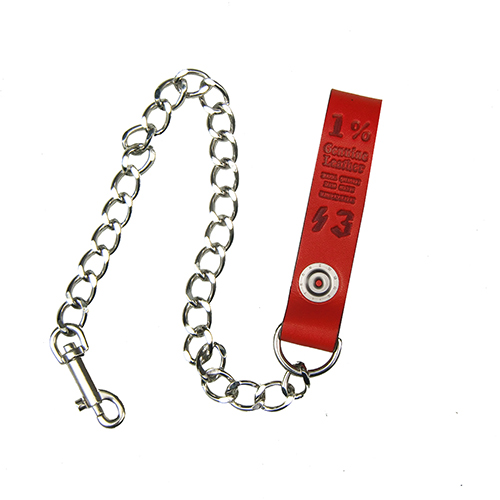 ■1%13_LEATHER WALLET CHAIN RED x SILVER■