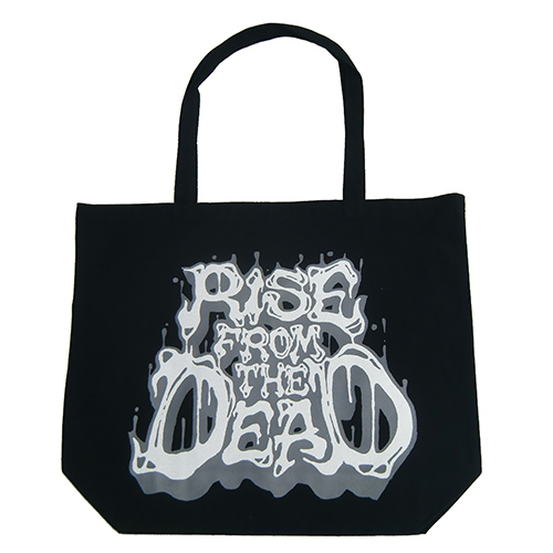 ■RISE FROM THE DEAD_LOGO TOTE BAG BLACK / GRAY■