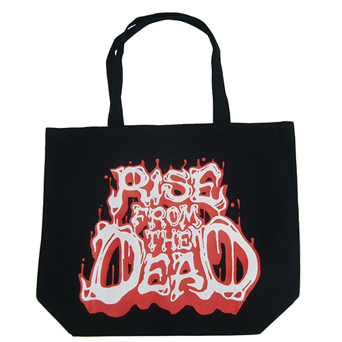 ■RISE FROM THE DEAD_LOGO TOTE BAG BLACK / RED■