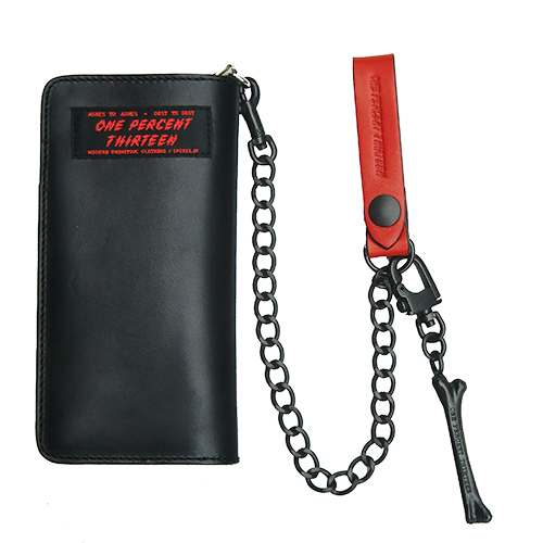 ■1%13_LEATHER WALLET CHAIN RED x BLACK■