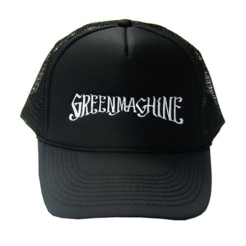 ��GREENMACHiNE_LOGO EMBROIDERY TRUCKER MESH CAP��