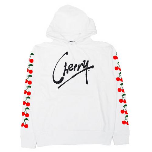 ��F-LAGSTUF-F_ Cherry..... HOODIE WHITE��FU���DOBRAIN����ۢ�