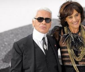 Karl Lagerfeld &Ines de la Fressange