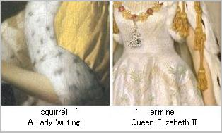 Queen Elizabeth II in Coronation Robes/A Lady Writing