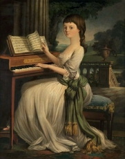 Mather Brown - A Girl at a Harpsichord (ca. 1782)