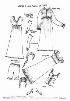 ©Nadene of http://practicalpages.wordpress.com Jane Austen 1800s