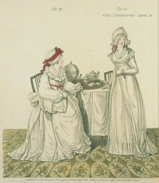 """Breakfast in the Dressing Room"" Gallery of Fashion, November 1794"