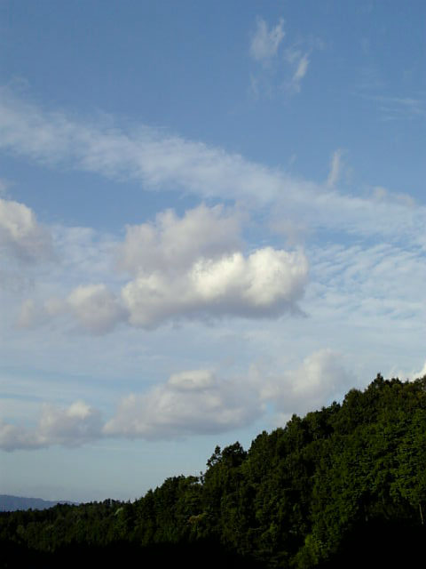絵に描いたような雲