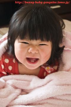 変な笑顔〜〜
