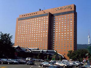 新羅ホテル外観