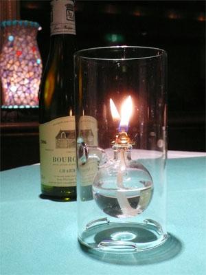 テーブルのランプ