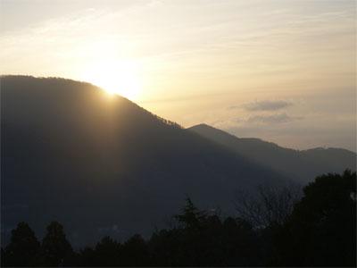 箱根の日の出