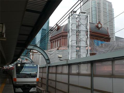 東京駅1番ホーム神田寄りから