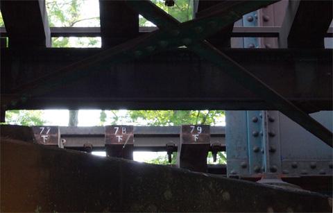 井之頭公園鉄橋の枕木番号