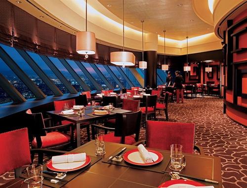 台北の夜景の綺麗なホテルのレストラン