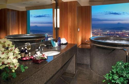 台北の屋内スパ浴槽付きホテル