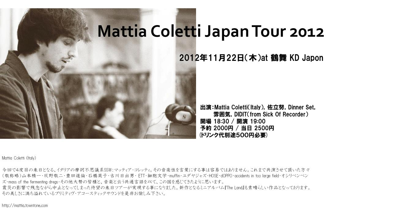 Mattia Coletti Japan Tour 2012