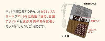 ツカモトエイム 家庭用温熱治療器 岩盤温浴マット