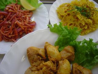 インド料理教室本日の完成品