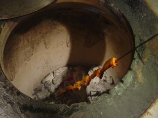 タンドールで焼きます