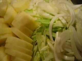 エッグブジヤに使う野菜