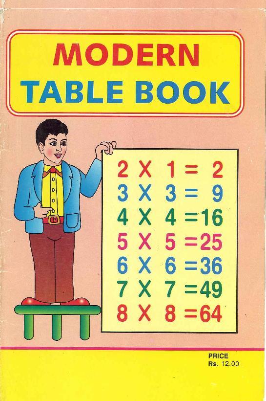 インドの九九の教科書表紙