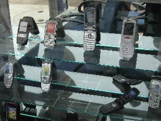 携帯電話端末の見本