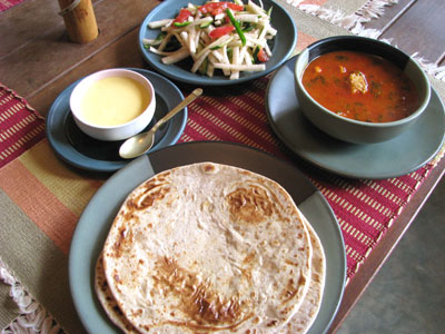 カタログハウスインド料理教室メニュー