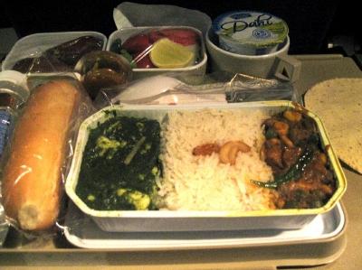 エアインディア機内食2008