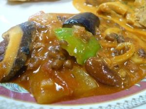 豆と野菜のカレー