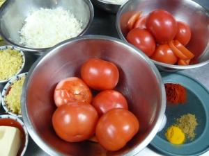 インド料理教室材料