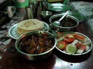 インドの夕食
