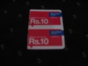10ルピーSIMカード