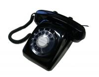 黒いダイヤル式の昭和の電話
