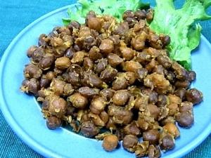 ブラックチャナ豆のドライカレー