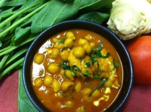 チャナ豆とチキンのカレー