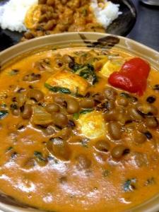 ロビア豆のカレー