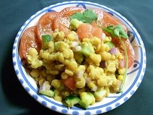 チャナダールのサラダ