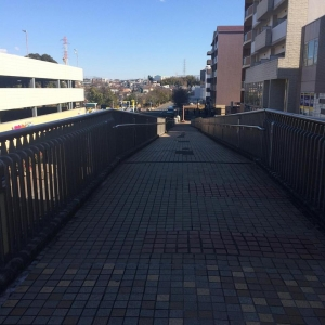 歩道橋終点