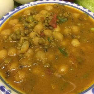 緑豆とひよこ豆のカレー