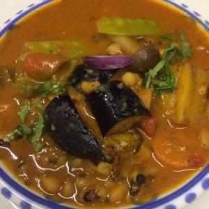 ロビア豆と茄子のカレー