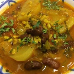 カブと豆のカレー