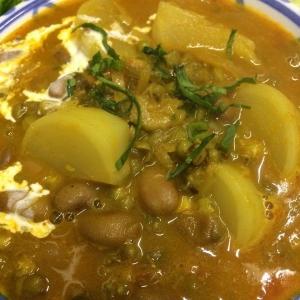 豆とカブのカレー