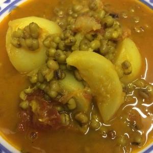 緑豆と蕪のカレー