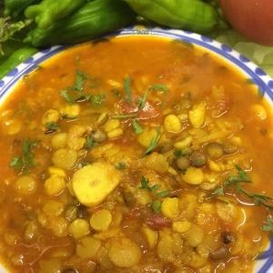 4種類の豆のカレー